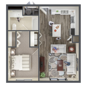 One Bedroom Apartment at The Ridge Apartments