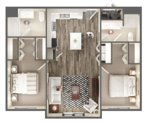 Two Bedroom Apartment at The Ridge Apartments