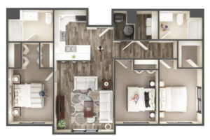 Three Bedroom Apartment at The Ridge Apartments